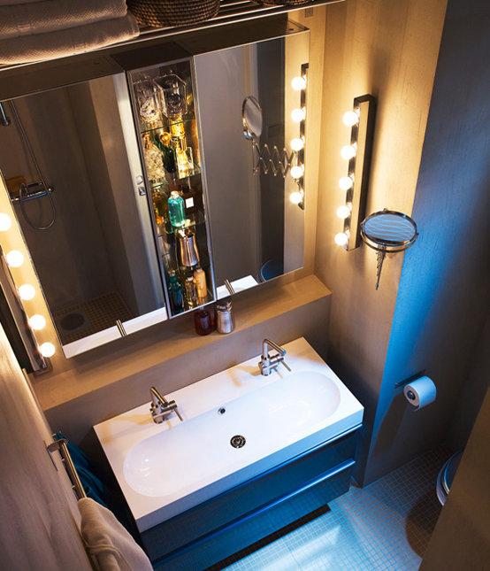 Зеркало ИКЕА в интерьере ванной