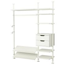 2 секции СТОЛЬМЕН белый артикуль № 398.756.51 в наличии. Онлайн магазин IKEA Минск. Недорогая доставка и соборка.