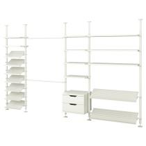 4 секции СТОЛЬМЕН белый артикуль № 598.756.88 в наличии. Online каталог IKEA РБ. Недорогая доставка и соборка.