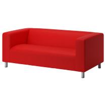 Чехол дивана 2-местного КЛИППАН красно-оранжевый артикуль № 702.788.53 в наличии. Online каталог IKEA РБ. Быстрая доставка и установка.