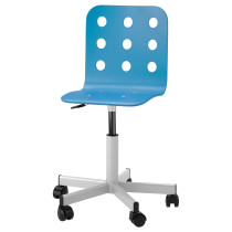Детский стул для письменного стола ЮЛЕС синий артикуль № 490.912.49 в наличии. Online сайт IKEA РБ. Быстрая доставка и установка.