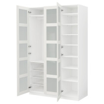Гардероб ПАКС белый артикуль № 891.288.11 в наличии. Online сайт IKEA Минск. Недорогая доставка и монтаж.