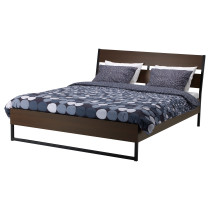 Каркас кровати ТРИСИЛ темно-коричневый артикуль № 390.199.99 в наличии. Онлайн сайт IKEA Беларусь. Быстрая доставка и установка.