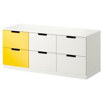 Комод с 6 ящиками НОРДЛИ желтый артикуль № 990.272.65 в наличии. Онлайн каталог IKEA Беларусь. Недорогая доставка и монтаж.
