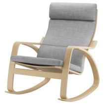 Кресло-качалка ПОЭНГ серый артикуль № 490.109.17 в наличии. Онлайн каталог IKEA Минск. Быстрая доставка и соборка.