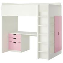 Кровать-чердак, 3 ящика, 2 дверцы СТУВА белый артикуль № 190.476.77 в наличии. Интернет магазин IKEA Беларусь. Быстрая доставка и соборка.