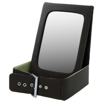 Настольное зеркало с отделением для хранения БЕТРАКТА зеленый артикуль № 302.379.11 в наличии. Онлайн сайт IKEA РБ. Быстрая доставка и соборка.