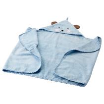 Полотенце с капюшоном БАДЕТ голубой артикуль № 502.642.63 в наличии. Интернет сайт ИКЕА Беларусь. Быстрая доставка и монтаж.