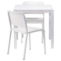 Стол и 2 стула МЕЛЬТОРП белый артикуль № 290.129.98 в наличии. Онлайн магазин IKEA Республика Беларусь. Быстрая доставка и установка.