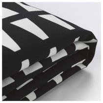 Чехол кресла-кровати ЛИКСЕЛЕ черный/белый артикуль № 203.245.79 в наличии. Онлайн магазин IKEA Беларусь. Быстрая доставка и монтаж.
