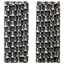 Гардины, 1 пара МАТТРАМ черный артикуль № 203.210.76 в наличии. Онлайн магазин IKEA Республика Беларусь. Быстрая доставка и установка.
