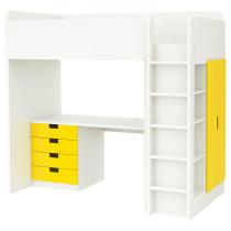 Кровать-чердак, 4 ящика, 2 дверцы СТУВА желтый артикуль № 591.795.95 в наличии. Online каталог IKEA Минск. Недорогая доставка и соборка.