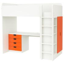 Кровать-чердак, 4 ящика, 2 дверцы СТУВА белый артикуль № 892.271.99 в наличии. Интернет каталог IKEA Минск. Быстрая доставка и монтаж.