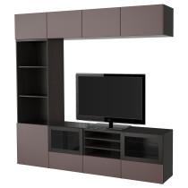 Шкаф для ТВ, комбинированный, стекляные дверцы БЕСТО артикуль № 091.966.58 в наличии. Онлайн сайт IKEA РБ. Недорогая доставка и монтаж.