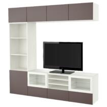 Шкаф для ТВ, комбинированный, стекляные дверцы БЕСТО белый артикуль № 291.966.81 в наличии. Онлайн магазин IKEA Беларусь. Недорогая доставка и установка.