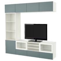 Шкаф для ТВ, комбинированный, стекляные дверцы БЕСТО белый артикуль № 391.966.71 в наличии. Интернет сайт IKEA Республика Беларусь. Быстрая доставка и установка.