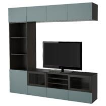 Шкаф для ТВ, комбинированный, стекляные дверцы БЕСТО артикуль № 491.966.61 в наличии. Интернет магазин IKEA РБ. Недорогая доставка и монтаж.