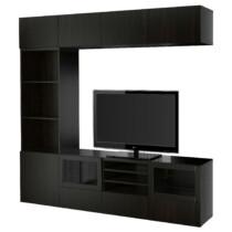 Шкаф для ТВ, комбинированный, стекляные дверцы БЕСТО артикуль № 791.967.25 в наличии. Интернет сайт IKEA РБ. Недорогая доставка и соборка.
