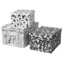 Набор коробок с крышкой, 3 штуки СТУНСИГ артикуль № 803.736.37 в наличии. Интернет сайт ИКЕА Республика Беларусь. Недорогая доставка и монтаж.