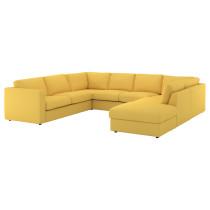 6-местный п-образный диван ВИМЛЕ артикуль № 892.116.12 в наличии. Онлайн сайт ИКЕА Республика Беларусь. Быстрая доставка и соборка.
