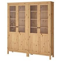 Комбинация для хранения со стеклянными дверцами ХЕМНЭС светло-коричневый артикуль № 192.336.84 в наличии. Online каталог IKEA РБ. Быстрая доставка и монтаж.