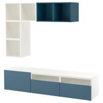 Комбинация для ТВ БЕСТО / ЭКЕТ темно-синий артикуль № 591.978.01 в наличии. Онлайн каталог IKEA РБ. Быстрая доставка и монтаж.