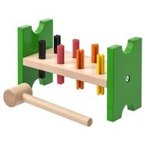 Блок с колышками и молотком МУЛА разноцветный артикуль № 003.657.21 в наличии. Онлайн магазин IKEA Минск. Недорогая доставка и монтаж.