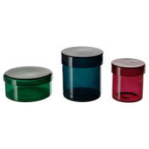 Декоративная коробочка, 3 предмета САМОРДНА разноцветный артикуль № 503.499.98 в наличии. Онлайн магазин IKEA Беларусь. Быстрая доставка и установка.