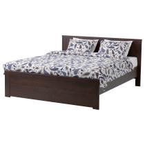 Каркас кровати БРУСАЛИ коричневый артикуль № 992.107.49 в наличии. Онлайн каталог IKEA Беларусь. Быстрая доставка и установка.