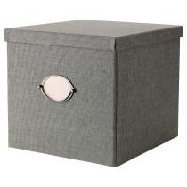 Коробка с крышкой КВАРНВИК серый артикуль № 603.763.78 в наличии. Интернет каталог IKEA Беларусь. Быстрая доставка и установка.