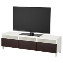 Тумба для ТВ с ящиками БЕСТО белый артикуль № 992.058.61 в наличии. Online сайт IKEA Минск. Быстрая доставка и установка.