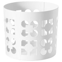 Украшение для свечи в стеклянном стакане ВАККЕРТ белый артикуль № 003.806.08 в наличии. Online сайт IKEA Беларусь. Быстрая доставка и установка.