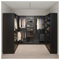 Гардероб угловой ПАКС черно-коричневый артикуль № 892.193.02 в наличии. Онлайн каталог IKEA Минск. Недорогая доставка и установка.