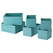 Набор коробок, 6 шт. СКУББ голубой артикуль № 003.750.70 в наличии. Онлайн сайт IKEA РБ. Недорогая доставка и установка.