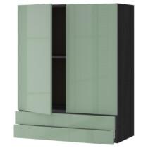 Навесной шкаф, 2 дверцы, 2 ящика МЕТОД / МАКСИМЕРА черный артикуль № 392.458.84 в наличии. Интернет магазин ИКЕА РБ. Недорогая доставка и установка.