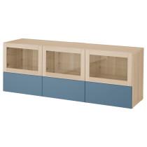 Тумба под ТВ, с дверцами и ящиками БЕСТО темно-синий артикуль № 792.497.57 в наличии. Интернет сайт IKEA РБ. Быстрая доставка и установка.